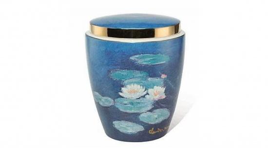 Porzellanurne von Goebel, Bild Seerose von Monet   <small>(012)</small>